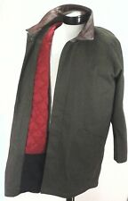 MARLBORO GEAR Long Jacket Trench Coat Leather Collar Removable Lining Men's L