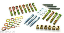 NEW SBC Small Block Chevy HD Ram Horn Exhaust Manifold Bolt & Stud Kit / 2