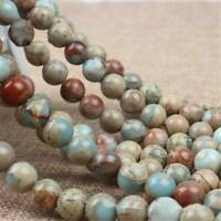 Natural Stone Beads ShouShan Blue Sea Sediment Jaspes Beads DIY Jewelry Making
