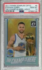 2017/18 Donruss Optic Holo The Champ is Here Stephen Curry #5 PSA 10