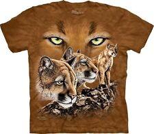 The Mountain Kinder T-Shirt Finde suche 10 Pumas Berglöwen Raubkatzen Gr. S & XL