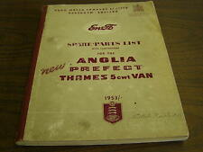 OEM English Ford Master Parts Book 1953 1954 Anglia Prefect Thames Van