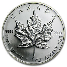 2006 1 oz Silver Canadian Maple Leaf Coin - Brilliant Uncirculated - SKU #11427