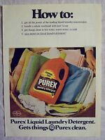 1978 Magazine Advertisement Ad Page For Purex Concentrated Laundry Detergent