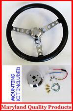 "Chevelle Camaro Nova Impala GT Retro Steering Wheel Polished Center 14 1/2"""