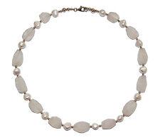 Moonstone & Acqua dolce Perla Collana con Fibbia in Argento Sterling & Beads-Era £ 265