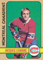 1972-73 Topps #25 Jacques Lemaire Hockey Card Montreal Canadiens