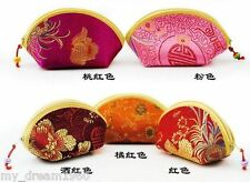 Wholesale 10pcs CHINESE HANDMADE Classic mini silk bags purses wallet purse