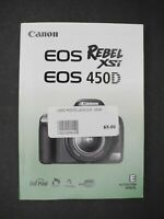 #2 Canon Genuine EOS 450D / XSi Digital Camera Instruction Book / Manual / Guide