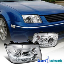 For 1999-2004 Jetta R8 Style Led DRL Projector Headlight Lamp Clear SpecD Tuning