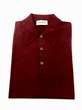 Brand New John Smedley Isis Short Sleeve Polo Shirt In Deep Fig Size S