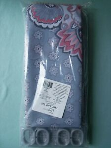 Kagney Silver Fabric Shower Curtain 70x72 and Noodle Rug Bath Set