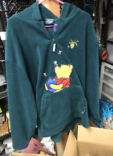 Disney Winnie the Pooh  Women's Large  1/4 Zip Fleece Pullover Green Jacket