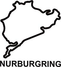 x2 Nurburgring Full Circuit Race Track Outline Vinyl Decals Stickers Graphics