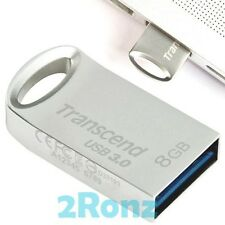 TRANSCEND JF710S 8GB 8G USB 3.0 Flash Drive Nano Disk Metal JetFlash 710 Silver