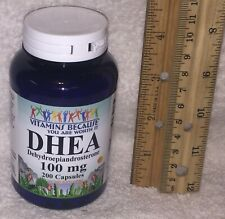 D H E A, pharmaceutical grade/Vitamins Because, 200 ct, 100 mg > NO ADDITIVES