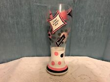 """Lolita - """"Last Night Out"""" Pilsner Glass 9"""" Tall Bachelorette Party"""