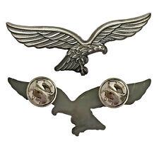 Luftwaffenadler Pin (Silber) | Hoheitsadler Wehrmacht Ass Balkenkreuz Luftass