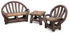 Miniature Fairy Garden Appalachian Bench Chair Table Set/Dollhouse Gnome MG80