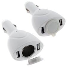 2 ports Chargeur de voiture USB pour iPhone, iPod, lecteur MP3 MP4 (Blanc) WT