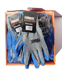 12 pairs x Finder Safety Gloves