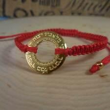 Big Gold Blessing Pendant Red String Bracelet
