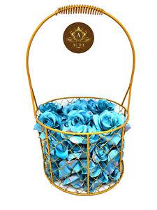Golden Fruit & Flower Store Basket Metal Decorative Craft Home Décor US Seller