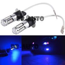 2X H3 High Lumen Power LED Blue H3-55W LED Fog Light Kit Driving Lamp Bulb DRL