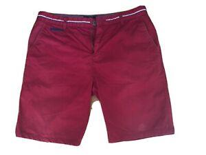 Kurze rote/ Dunkelrote Hose / Shorts Herren Strokesman's, 48
