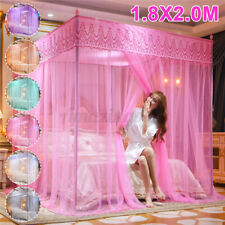 4 Corner Post Bed Mosquito Net Curtain Canopy Netting Set Queen King Princess