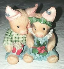 """Merry Kisses And Hogs Tlp Pig Enesco Figurine """"this little piggy"""""""