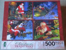 CHRISTMAS TRADITIONS 4-PACK (2009) Tom Newsom 500 piece COMPLETE