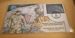 USA 2000 $11.75 HOLOGRAM Collins Space Achievement FDC Cover Moon Landing