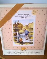 Disney Classic Winnie The Pooh & Piglet Soft Toy Plush Ltd  Poohsticks Box Set