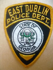 Patches: EAST DUBLIN STATE OF GEORGIA USA POLICE PATCH (NEW* apx. 10.5x8 cm)