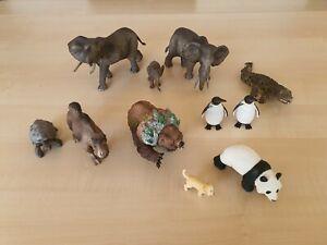 Schleich Sammlung 11 X Tiere  Afrika Elefanten etc