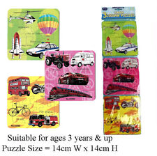 Child Kids Junior Jigsaw Puzzles - Pack of 3 - Cars Trucks Trains Tractor