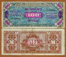 Germany, 100 mark, 1944, P-197d, WWII, Allied Occupation, F