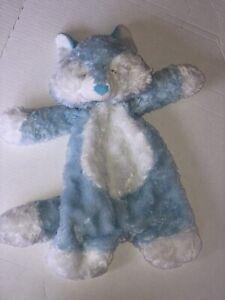 "Ganz Flat a Pat Puppy Dog Baby Lovey Plush 16"" Blue Security Blanket Stuffed"