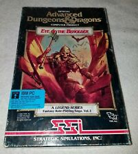 "Advanced Dungeons & Dragons Eye of the Beholder IBM PC 5.25"" Floppy Disk SSI"
