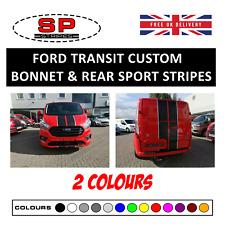 Ford Transit Custom Vinyl Bonnet & Rear Stripes Graphics Racing Sport Decals 01