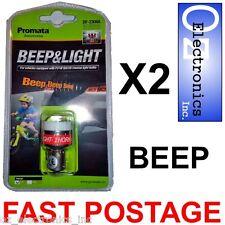 2 x Reversing Beeper Light Car Caravan BEEP & LIGHT Promata P21W BA15S NEW 12V