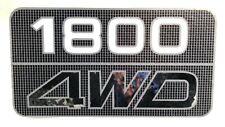 "SUBARU BRUMBY BRAT UTE PICKUP TAILGATE TAIL GATE STICKER DECAL ""1800 4WD"""
