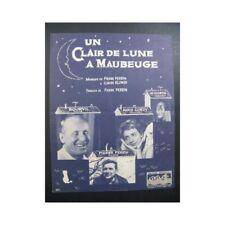 Un Clair de Lune à Maubeuge Tango Bourvil Chant Piano 1962 partition sheet music