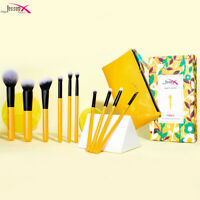 Jessup Makeup Brushes Set 10Pcs Face Powder Blush Eyeshadow Cosmetic Bag Tool
