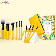 Jessup Makeup Brushes Set 10Pcs Face Powder Blush Eyeshadow Cosmetic Bag Tool