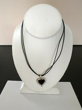 """Premier Designs Jewelry SWEETHEART 18""""-21"""" Antique Silver Crystals Necklace NWOT"""