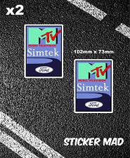 SIMTEK MTV CLASSIC F1 STICKERS GRAND PRIX  ROLAND RATZENBERGER / BRABHAM