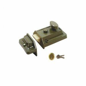 CENTURY TRADITIONAL (YALE) 60mm ENB NIGHT LATCH NIGHTLATCH & BRASS CYLINDER