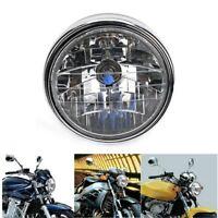 7''  Moto Phare Feux Avant Headlight Pour Honda CB400 Yamaha Suzuki Kawasaki